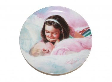 """Sisterly Love by Donald Zolan 7 1/2"""""""" Collectible Plate & Certificate & Booklet"""