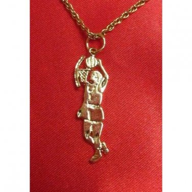 14K Double Gold Filled Basketball Player Charm/Pendant