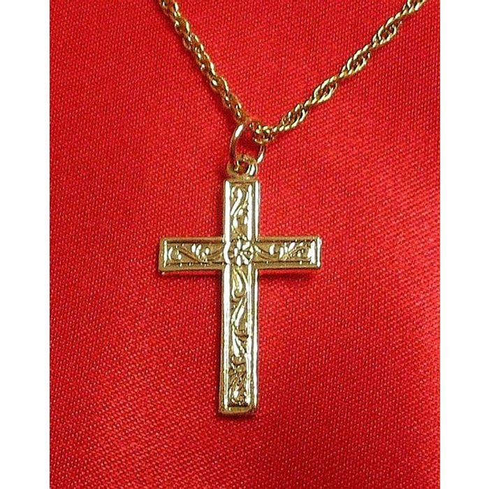 14K Double Gold Filled Cross Charm/Pendant