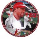 "Record Breaker 9-8-98 Mark McGwire Home Run Hero 8 """"Collectors Plate with COA"
