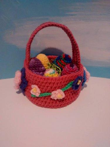 Pink (rose) Easter Basket