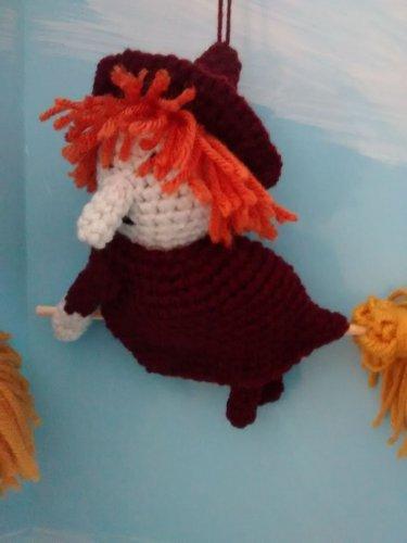 Kitchen Witch ( dark red)