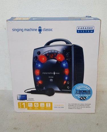 Karaoke Singing Machine SML283 Classic, 1x Mic, Disco Lights -Black (Ex-display)