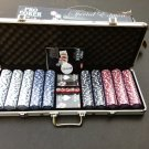 SPECIAL EDITION OF POKER PRO CASINO POKER CHIPS 500 SET W/ ALUMINUM CASE + DICE