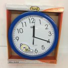 Trevi OM 3301 Round 25cm Wall Clock with White Clock Face and Easy to Read Numbers
