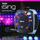 i.Sing Vivitar CD Party Black Karaoke Machine with Microphone and Light Effects (Ex-display)