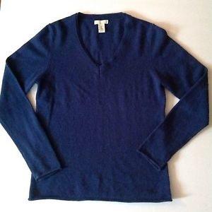 Tweeds Medium Blue SUPER SOFT 100% 2-ply Cashmere V-Neck Sweater