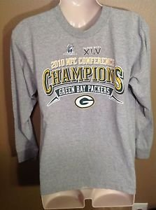 2010 Green Bay Packers NFC Conference Champions Youth Large Long Sleeve Shirt