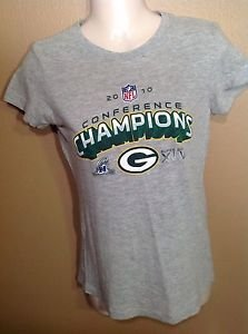 Green Bay Packers 2010 NFC NFL Conference Champions TShirt Women's Medium