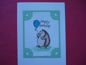 Hedgehog Birthday Card Stampin Up Various Colors Available