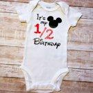 Half Birthday Disney Mickey Mouse Inspired, 1/2 Birthday
