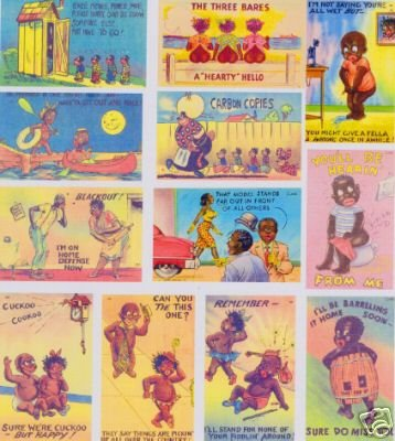 BLACK AMERICANA 40'S POSTCARD ART MAGNET SET-CARBON COPIES