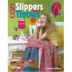 Cozy Slippers and Throws CROCHET PATTERN BOOK...NEW