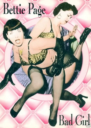 "BETTIE PAGE Vintage Postcard....""BAD GIRL"""