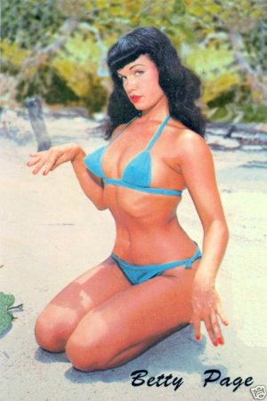 "BETTIE PAGE Vintage Postcard...""THE FLORIDA YEARS"""