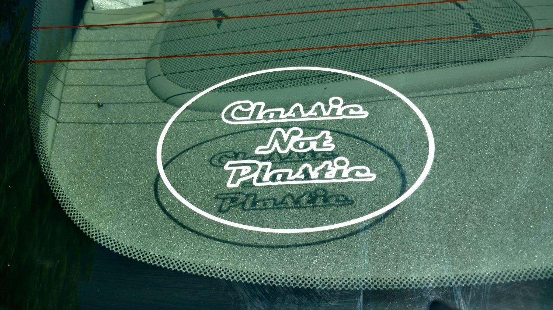 Classic Not Plastic Vinyl Car Window Bumper Sticker Decal Laptop Performance JDM USDM EDM Oval