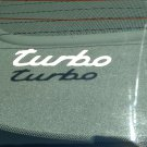 Turbo Vinyl Decal Car Window Laptop Bumper Sticker Glossy White Turbocharger Turbocharged EDM Logo