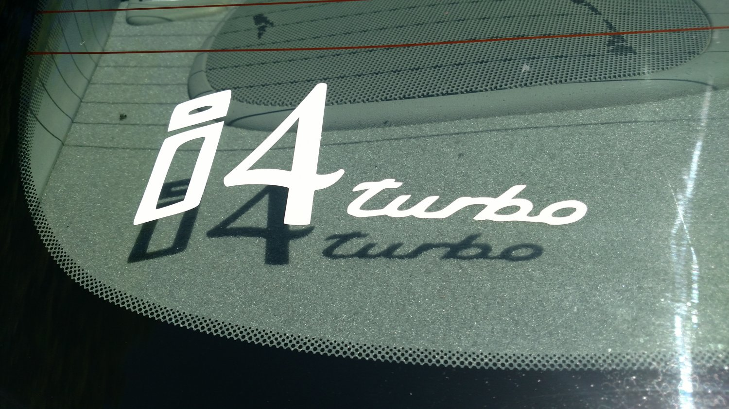 i4 Inline Four Turbo Vinyl Car Window Bumper Sticker Decal Laptop Turbocharger Turbocharged 4