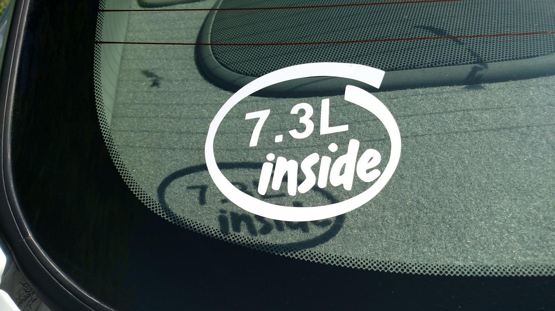 7.3L Inside Vinyl Car Window Bumper Sticker Decal Laptop 7.3 Power Stroke Diesel Engine