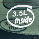 3.5L Inside Vinyl Car Window Bumper Sticker Decal Laptop 3.5 V6 Ford GM EcoBoost Duratec