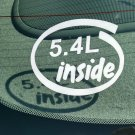 5.4L Inside Vinyl Car Window Bumper Sticker Decal Laptop 5.4 Ford Triton Truck Engine