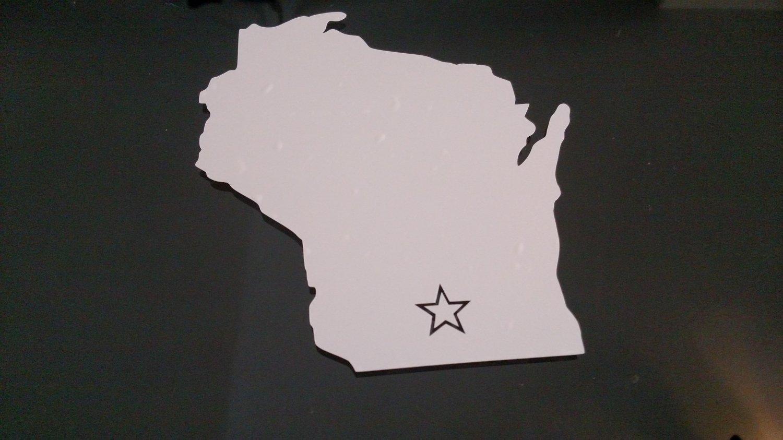 Wisconsin Madison Vinyl Car Window Bumper Sticker Decal State United States America USA Laptop