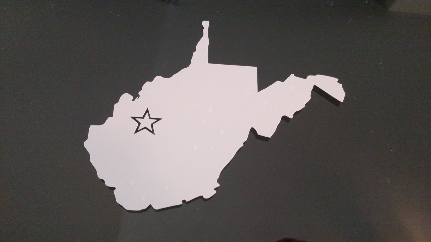 West Virginia Charleston Vinyl Car Window Bumper Sticker Decal State United States America USA