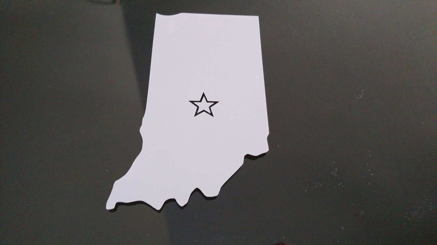 Indiana Indianapolis Vinyl Car Window Bumper Sticker Decal State United States America USA Laptop