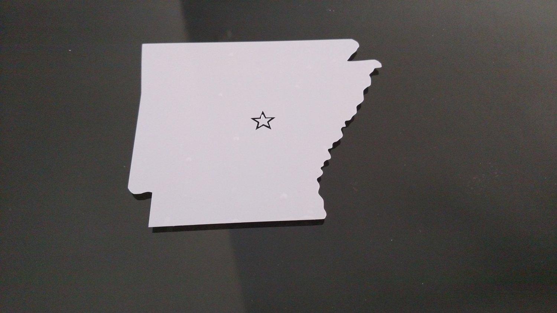 Arkansas Little Rock Vinyl Car Window Bumper Sticker Decal State United States America USA Laptop