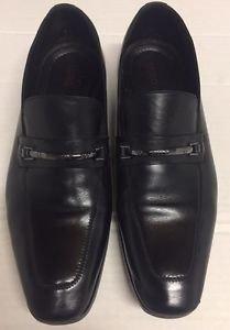 Hugo Boss Black Leather Horsebit Venetian Loafers Dress Shoes Men's 10 1/2