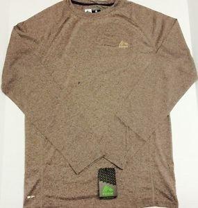 RBX - X-DRI Running Shirt Long Sleeve Men's Small Brown Pullover NWT