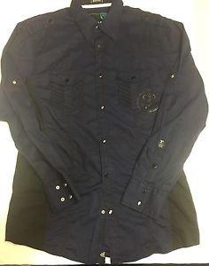 ROAR - Blue/Black Plaid Casual Shirt Medium Excellent price $20.00