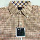 TAILORBYRD Luxury Designer WOVEN COTTON METRO PLAID Mens DRESS SHIRT, NWT! Small