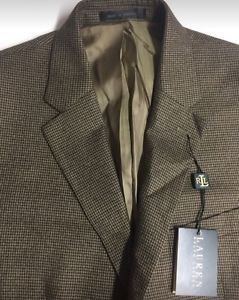 Lauren Ralph Lauren - Blazer Houndstooth Classic-fit Light Brown 42S NWT $295