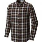 Columbia Mens Big Cornell Woods Flannel Long Sleeve Shirt, Black/Multi Plaid, 3X