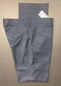 EXPRESS - Producer BLUE COTTON SATEEN  Wool-blend MEN'S SUIT PANTS, 32X36  NWT