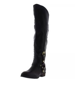 Report Signature Womens Geena Brown Harness Boots Shoes 9 Medium (B,M)