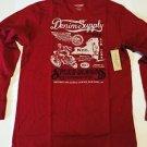Denim & SUPPLY Ralph Lauren Speed Demon Red L/S T Shirt  Large  NWT Genuine