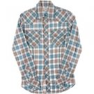 True Religion Mens Blue Checkered Embroidered Western Shirt Small NWOT