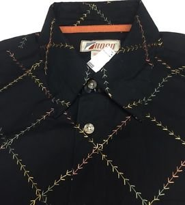 ROAD Apparel-Embroidered M8 Jacquard Mens Shirt Medium $118 NWT -Limited Edition