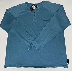Maui & Sons - 3 Button Pullover Shirt Blue Large NWT