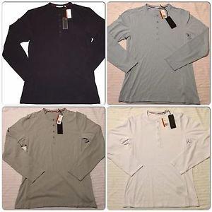 $165  Massif Armory Henley Shirt - Multiple Sizes (Gray, Sky Blue )
