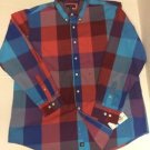 Club Room Long Sleeve Check Shirt Button-Front $49 XL