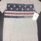 LEE - V  Neck Gray Heather Freedom S/S Shirt Size Medium NWT