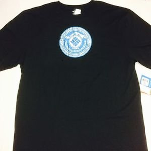 Columbia -Mens Black Graphic Greater Outdoors T- Shirt Short Sleeves  Sz XLT NWT