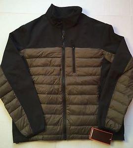 Hawke & Co Hybrid Down & Fleece Jacket Mens Large Black/goldTaupe- $195 NWT