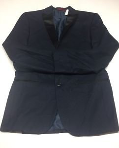 Alfani Mens Navy Textured Slim Fit Lined Sportcoat Blazer 38R $250 MSRP