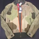 Alexander McQueen - Distressed Leather/Cotton Camo Bomber Jacket Size 48 $3250
