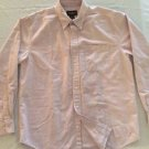 Eddie Bauer- Striped Button Down Shirt Dress/Casual Size Medium. L/Sleeve Cotton