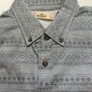 Hollister - Mens/Guys - Gray Aztec Button Front EL Porto Shirt  Large Gray NWT
